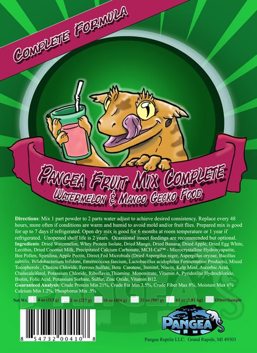 Pangea Fruit Mix Complete Gecko Diet Watermelon-Mango 8oz