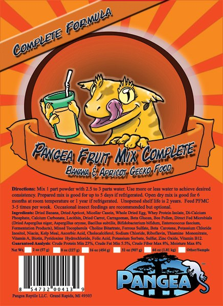 Pangea Fruit Mix Complete Gecko Diet Banana/Apricot 8oz