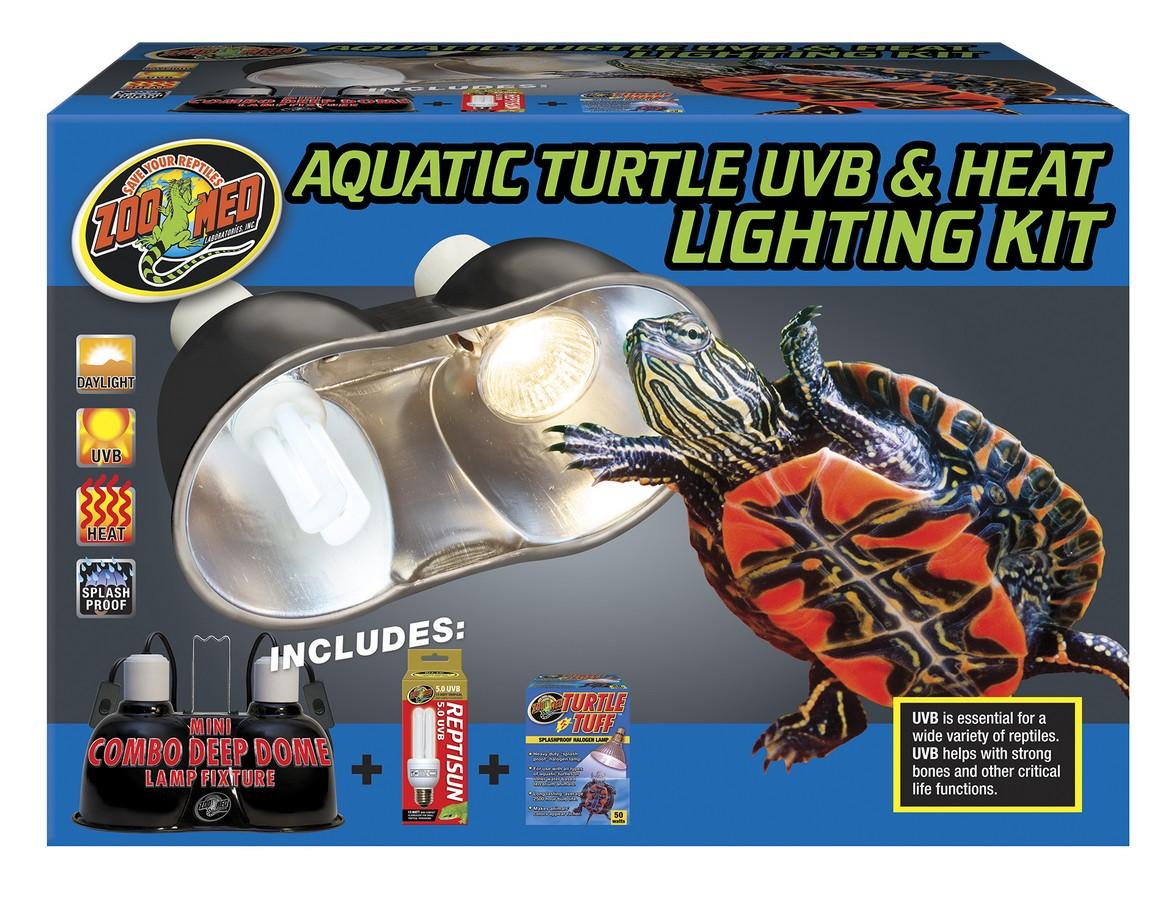 AQUATIC TURTLE UVB LAMP; HEAT LIGHT KIT-ZOOMED