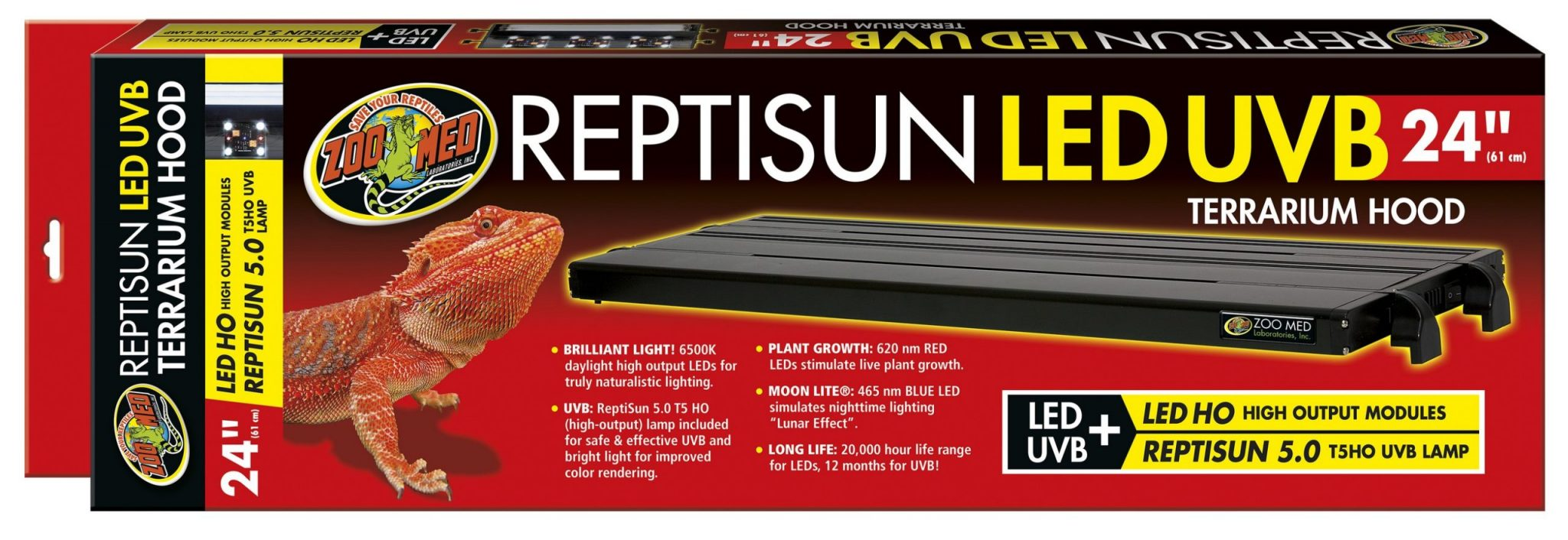 ReptiSun LED/UBV Fixture 24″- ZooMed