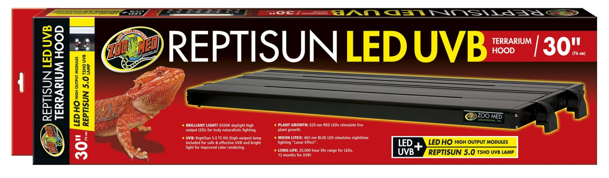 ReptiSun LED/UVB Fixture 30″-ZooMed