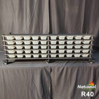 R40 RACK – REPTILE 5 LEVEL 50 BIN SYSTEM