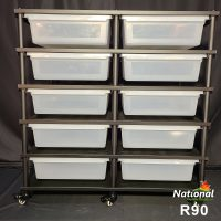 R90 RACK – REPTILE 5 LEVEL 10 BIN COMPLETE SYSTEM